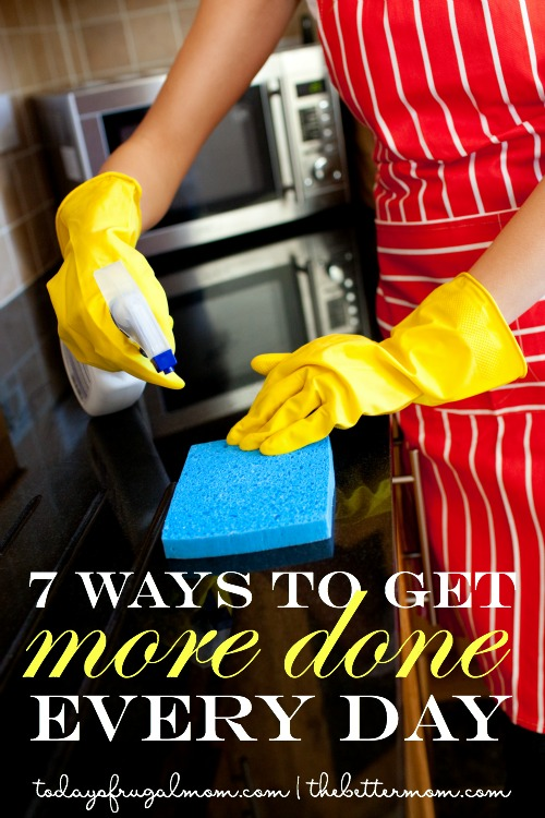 Struggling to get everything done today? If you're like most moms, your list probably feels endless. Here are seven ways to organize and get more done. You've got this!