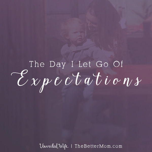 Are you holding on to expectations that may actually be crippling your relationships? As moms, it's easy to look to all we've imagined for this season and wish away our reality- but that comes at a great cost! Hold on tight to the beauty God has set before you today.