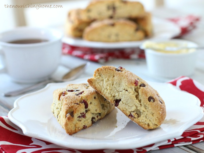 These delightful  Cherry Chocolate Chip scones  are the perfect treat to enjoy with a steamy cup of tea or coffee at Valentine's, or anytime you're in the mood for a special treat!