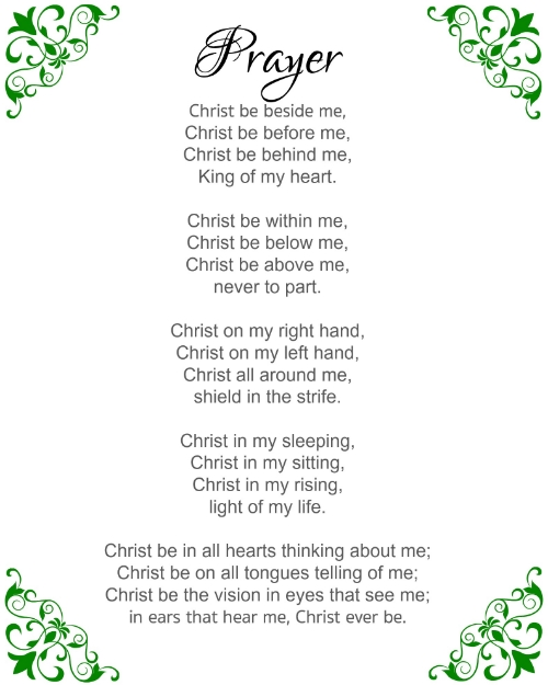 Are you too tired to pray? Sometimes when exhaustion takes over, it is difficult to find words to give form to the cry of our hearts. In those moments, we can look to God's word and to the words of Christians who have gone before us... This prayer of St. Patrick is perfect for March, and for tender, tired hearts.