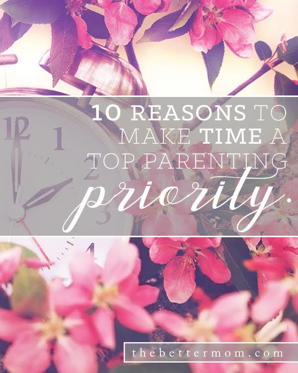Does it feel like time is slipping through your fingers? As moms, it seems we never have enough time in the day to accomplish tasks and are often left wanting for relationship minutes that really matter. Here's how to turn time around and use it to invest in each of your children.