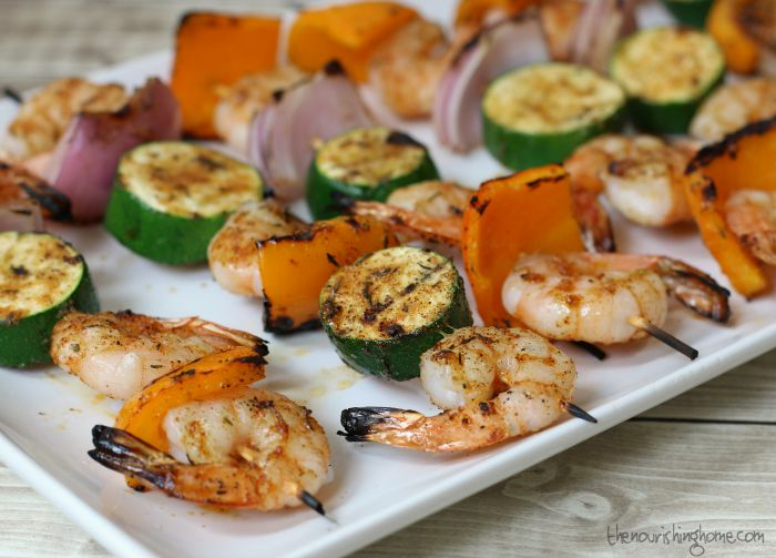 Summer is the perfect time to get your grill on and invite your family and friends over for a fun and flavorful cookout with these easy  Grilled Shrimp Kabobs .