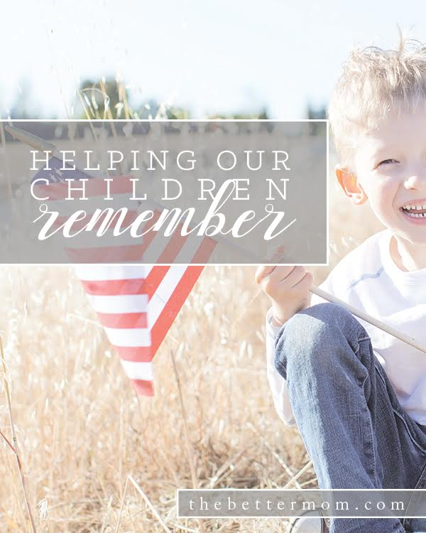 How does your family commemorate Memorial Day? It is so easy to let this day pass as merely a three day weekend full of barbeques and time by the pool, but taking time to pause and reflect is important and meaningful. Here are some practical ways to share the reason for Memorial Day with your children.