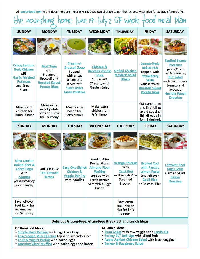 Are you looking for a delicious, kid-friendly, and FREE meal plan?! We have all the work done for you!!