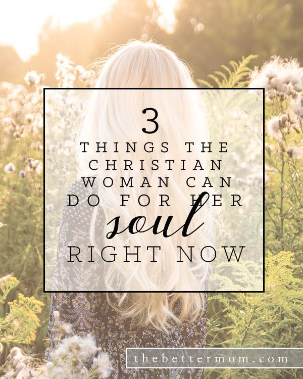 How are moms able to care for their own hearts when so many other things need attention? If you are weighed down and exhausted, today is the time to begin to care for your soul. Here are three things you can do right now.