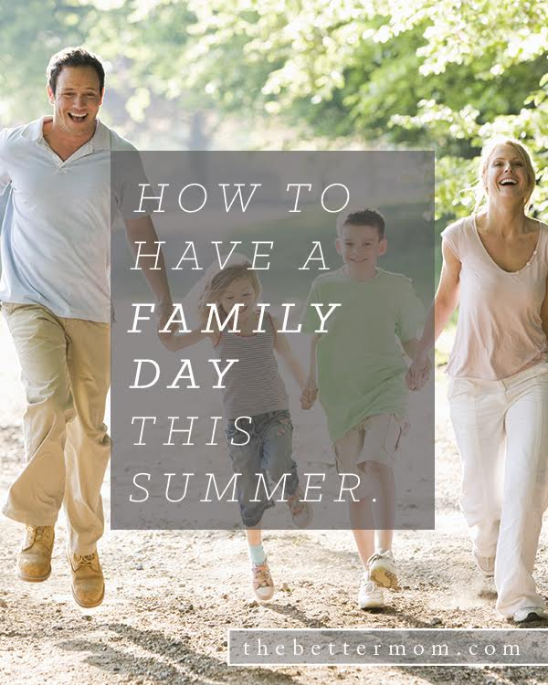 What memories and traditions will YOUR children remember this summer? These moments  are the glue that hold families together, but they can be much more simple to create than you might imagine! Here's our idea for a family day that will stick with your kids for years to come!