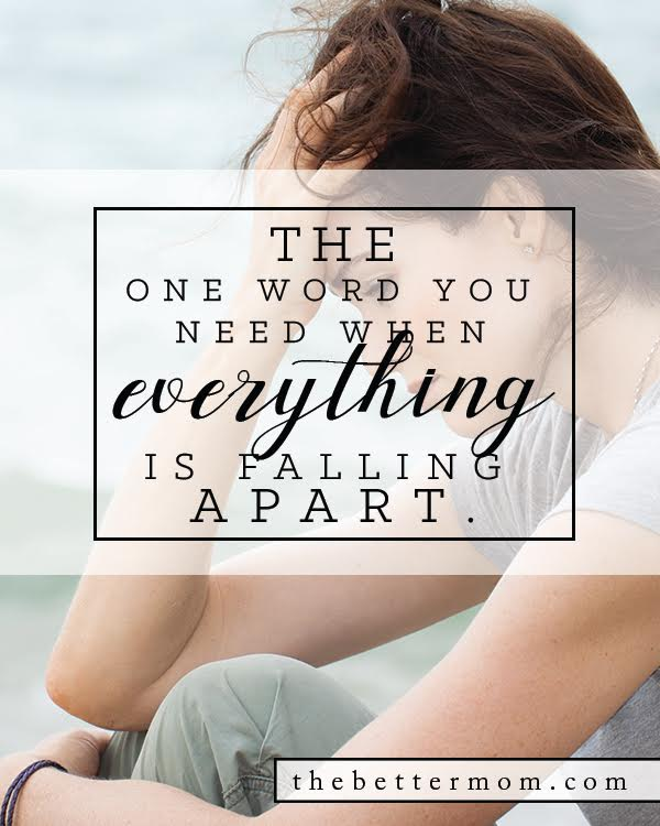 Life can be hard. We all inevitably go through seasons of struggle and seasons of heartbreak. What can we do? Where can we turn? Here is the one word you need when everything is falling apart....