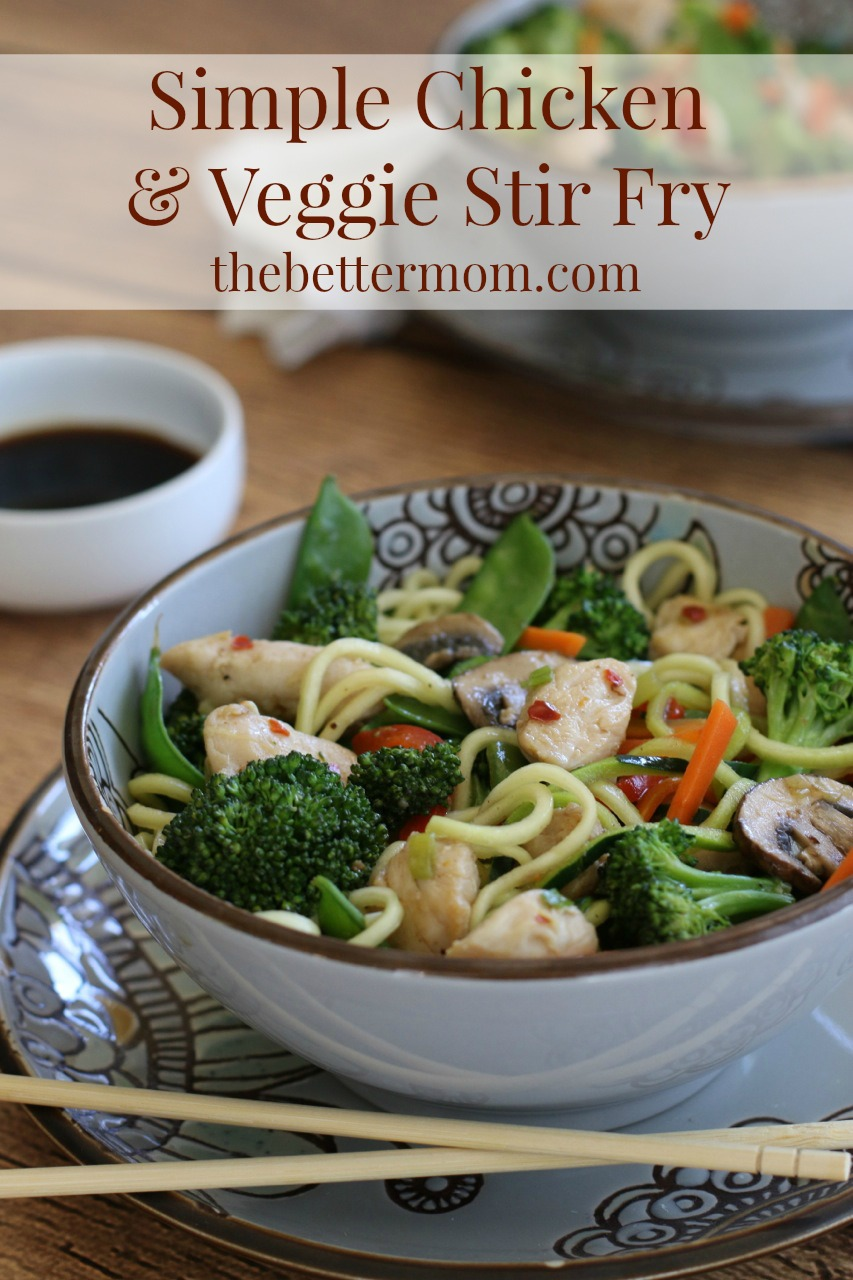 Simple Chicken & Veggie Stir Fry! A healthy one skillet meal the entire family will love!!