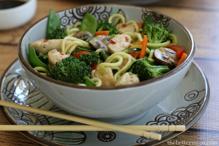 Healthy one-skillet meals like this  Simple Chicken & Veggies Stir Fry  make it so much easier to get a home-cooked meal on the table during busy weeknights!
