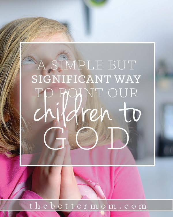 Do you long to point your children toward God's presence? You might not expect that one of the best ways to do just that is to listen to their little hearts. These questions are a perfect way to draw out what runs deep in their daily lives and help them bring themselves before God.