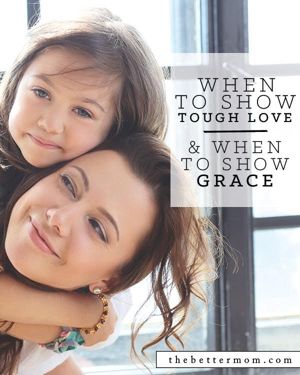 Discipline can be tricky! And for moms, walking the line between giving grace and showing tough love can be even harder. Here are a few things to consider that can help you take the appropriate action when you find yourself on the fence and unsure how to respond to your child's behavior.