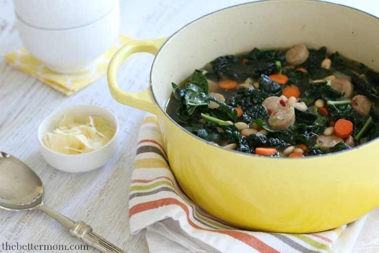 Happy Fall! Soup weather has finally arrived! With its hearty, satisfying flavors, this  Savory Sausage & White Bean Soup  makes the perfect healthy meal on those crisp, cool autumn nights!