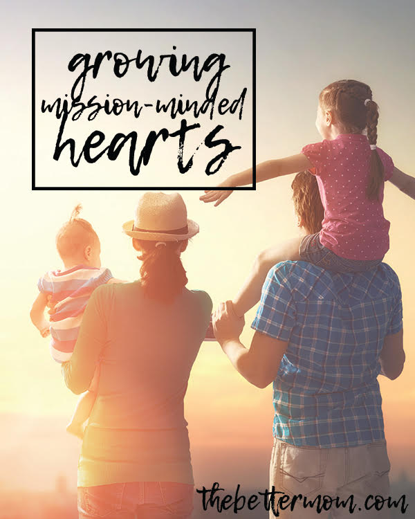 Jesus' parting words to his disciples was to go and spread the gospel through all the earth... and this directive still applies to those of us who follow him today. So how do we teach our children to be mission minded? Let's train the  to go out into the world with a heart like Christ's!