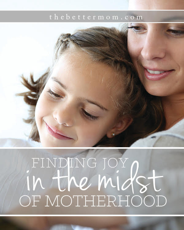 Has your idea of motherhood fallen apart? Maybe stress and pressure are all just about to make your home cave in? If you've ever wondered how to find joy in the seasons motherhood brings, we're here to help you find it!