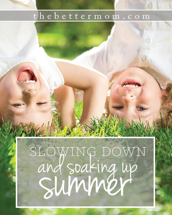 So, you want to slow down so you can soak up every bit of summer with your kids? It can be hard to manage between camps, activities and family travel. Here's how to find time to rest in a season that can feel nonstop!