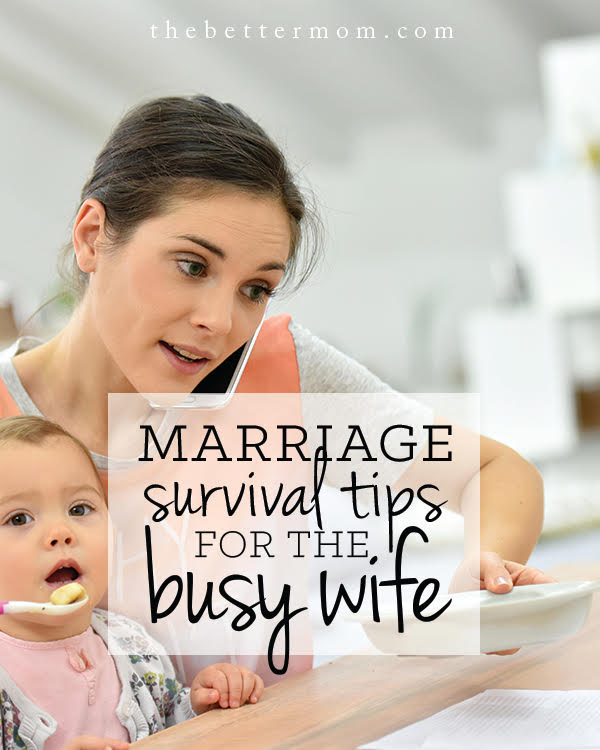 Are you so busy with life as a mom that you neglect being a wife? Today we're taking a pause to assess our schedules and our hearts so we can love our husbands well.