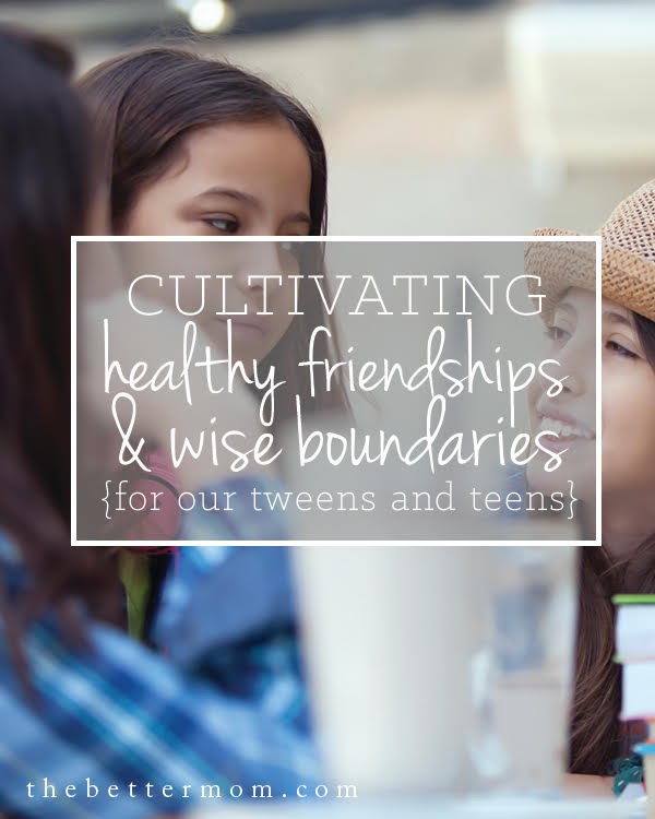 How do you cultivate healthy friendships? Today, we're diving into learning the principles of healthy boundaries (for us and for our children), and developing healthy tools that will help our relationships can thrive!