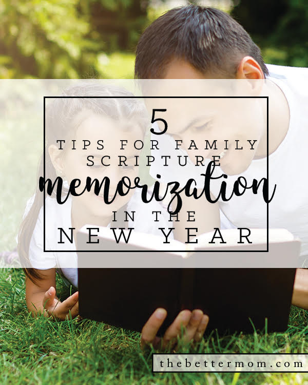 We all want to get our kids reading the Bible, but how? Memorizing God's word together is a great way to start! These 5 tools will help you begin today.