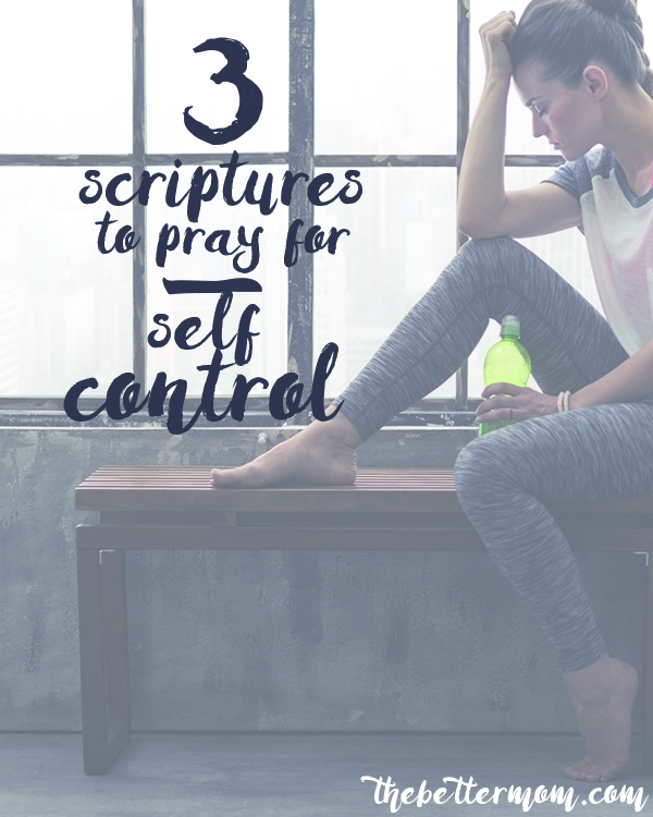 When we're struggling with anger, self control can sometimes feel like something we have to produce for ourselves. We must remember it is a fruit of the Holy Spirit alive and active in us! Take hold of these promises from God's word about this and tuck them in your heart today!