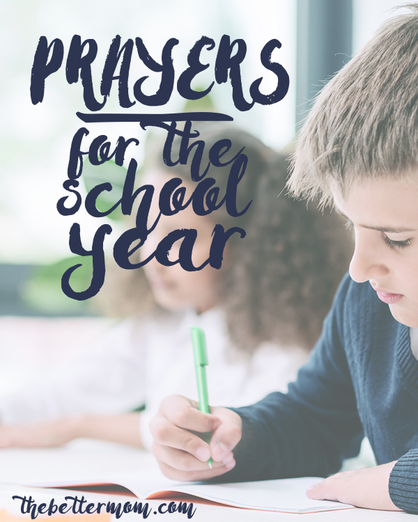 Our kids need a lot of things this school year, but one essential we want to be sure you don't forget? Prayer! Let's cover them well, mamas! These prayers are the perfect place to start.