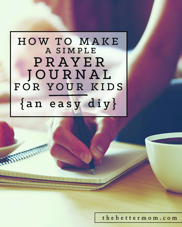 Do you keep track of your prayer requests? A prayer journal can help us communicate more deeply with God and becomes a treasured momento of all he has done in our lives. Learn how to create one, and help your children get in on the action too with this wonderful DIY!