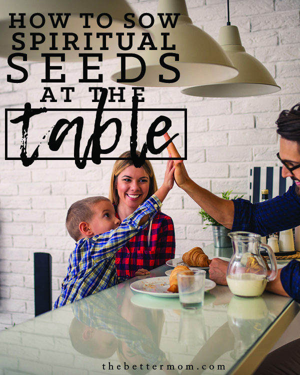 Do mealtimes in your home feel meaningful? Sharing sweet food and conversation is just the start! Today, join us as we discover simple ways to share God's character and love with our children as we eat.
