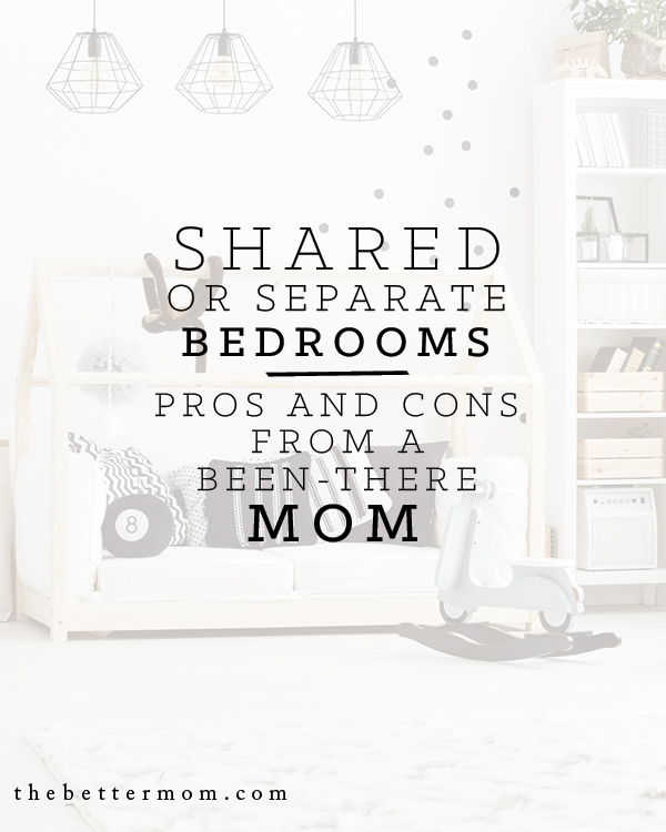 Do your kids share a bedroom? Creating personal space for our children can be a challenge! Today we're sharing an experienced mom's guide to navigating these family logistics while putting relationships first.