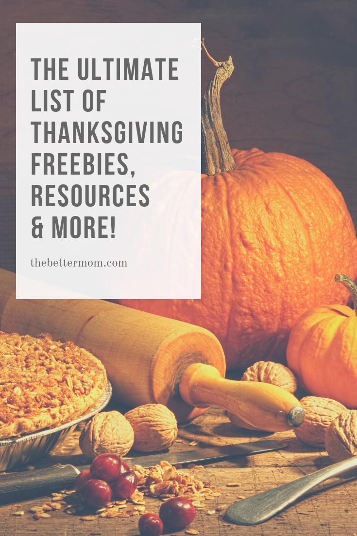 Thanksgiving is right around the corner and today we are sharing a HUGE list of freebies, resources and more to make this holiday meaningful!
