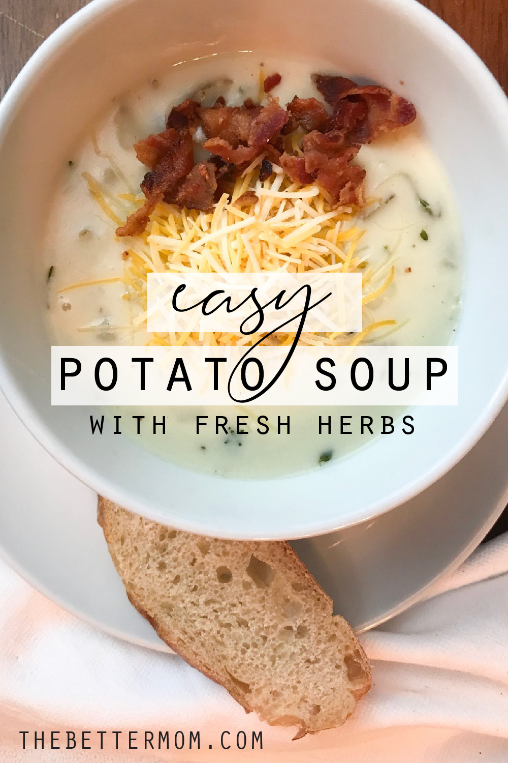 """If you are looking for a """"cozy and comforting"""" meal in this cold winter season, we have the PERFECT idea! This easy and delicious potato soup will warm you right up! Yummy!!"""