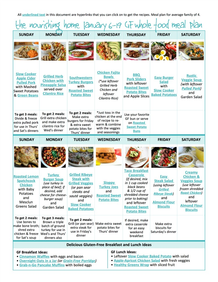 Have you seen our brand new meal plans?! We've made them really simple, making the most out of each meal and we are pumped to share this brand new way to meal plan with you! The meals are healthy, delicious, whole food and gluten-free! The best part?! The meal plans are FREE! 🎉