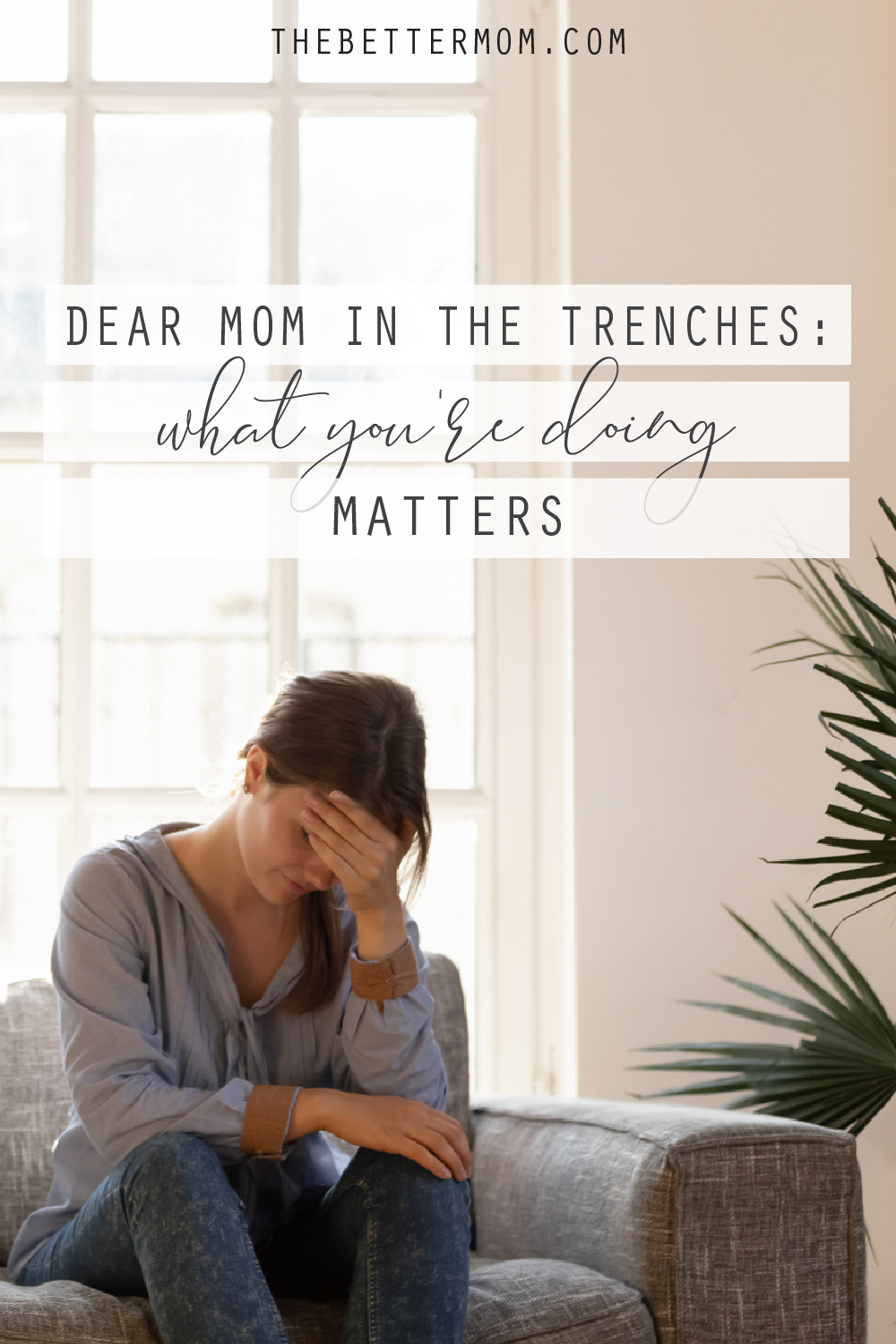 Do you wonder if all you do each day as a mom matters? Do you worry that you'll lose yourself in the quiet mundane of each day? Moms, you need a reminder that your work is important and beautiful. You need these words to breathe life into your legacy.