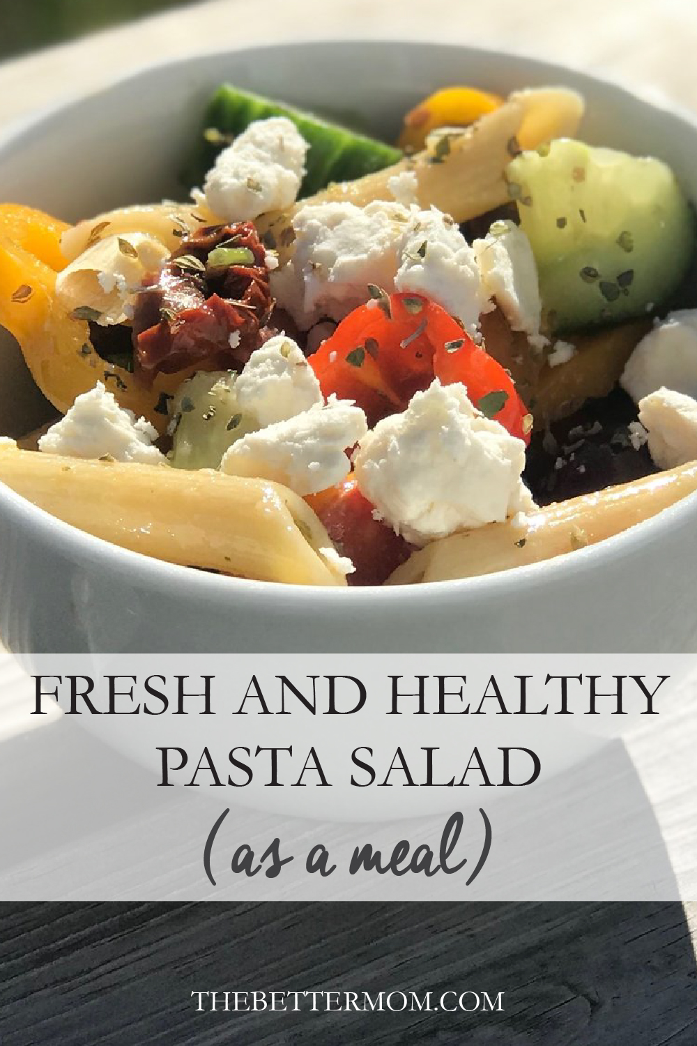 I LOVED pasta salad as a child so this fresh new take on it has me all giddy! If you are looking for an easy and YUMMY meal for the fam now that the warmer weather is here, this Fresh and Healthy Pasta Salad is it!!