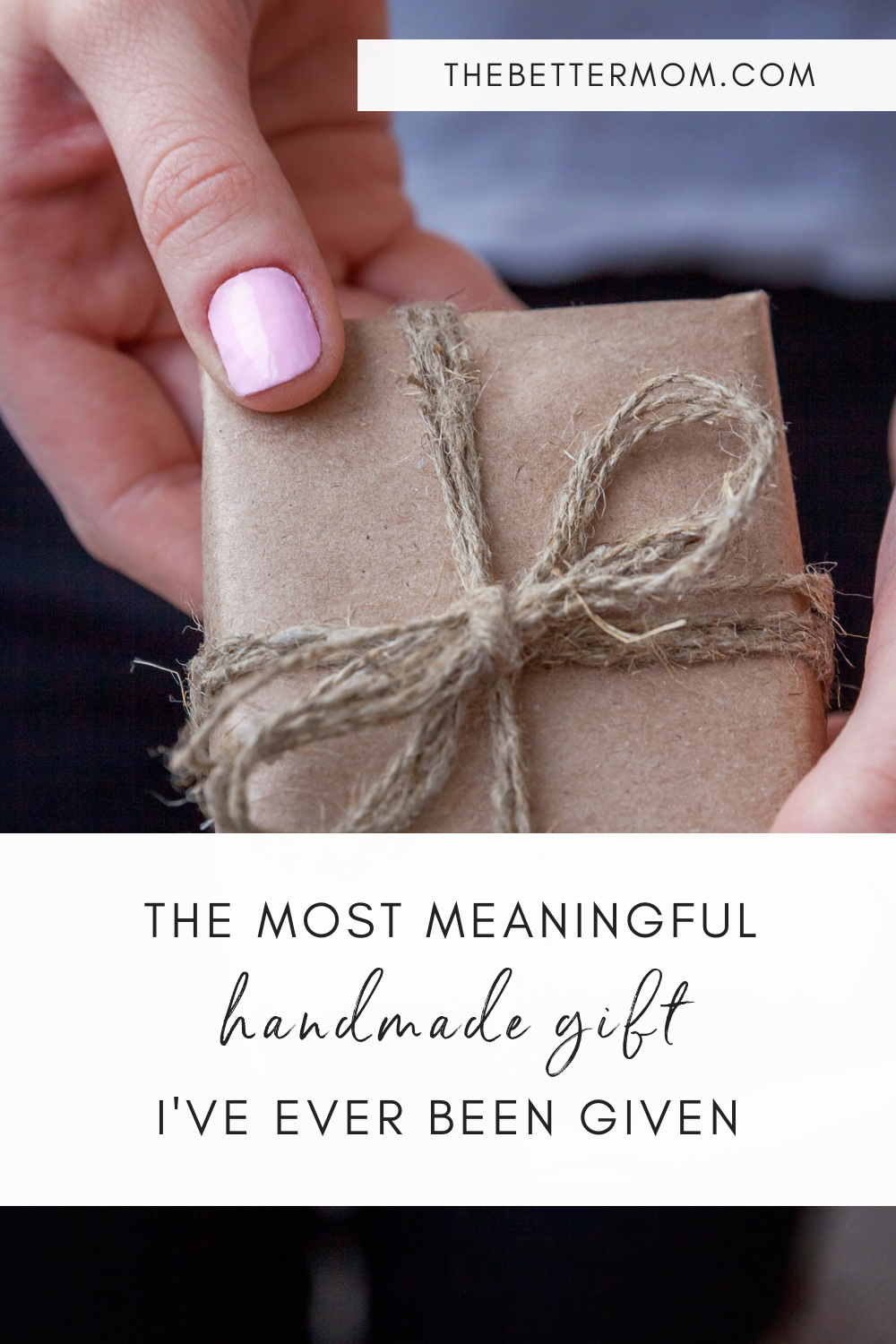 Have you ever been given a gift that spoke directly to your heart? We have a homemade gift idea for you that does not require craftiness, but is sure to bless someone you love very much!