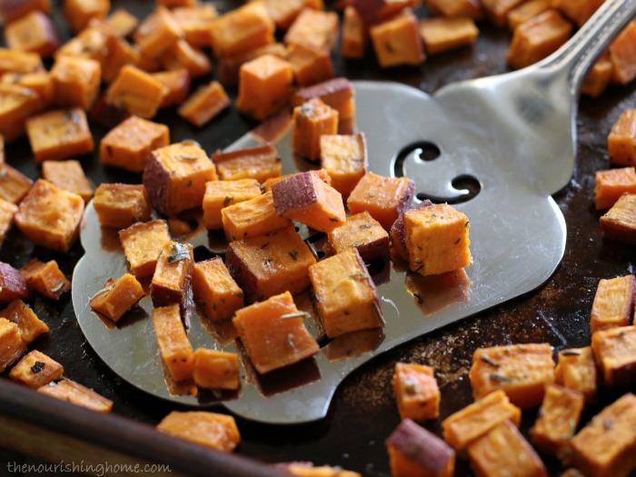 Roasted Herb Sweet Potato Bites Close Up.jpg