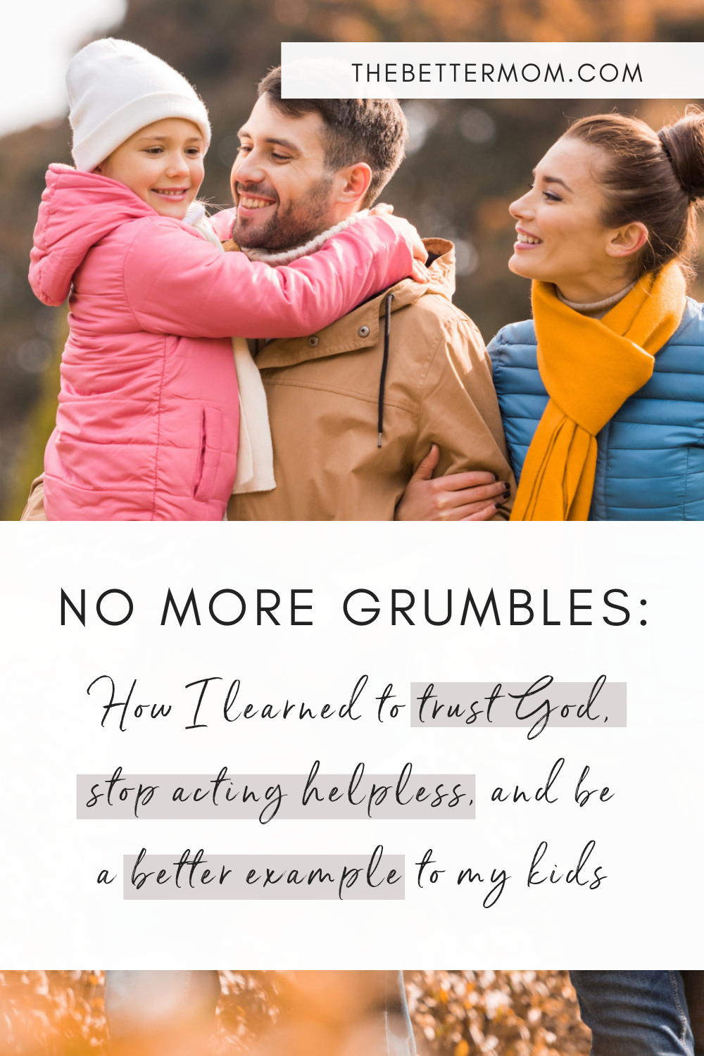 Do you struggle with complaining? Do you get bent out of shape when things don't go according to plan? Learn how to embrace peace and get rid of grumbling for good!