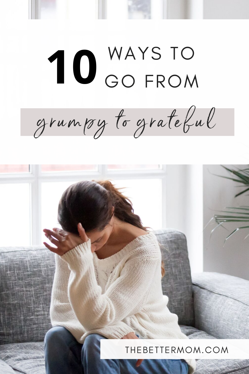 Do your kids see your bad moods? They might be observing more than you even realize! Say goodbye to grouchy with these ideas to bring calm to your heart and your home.
