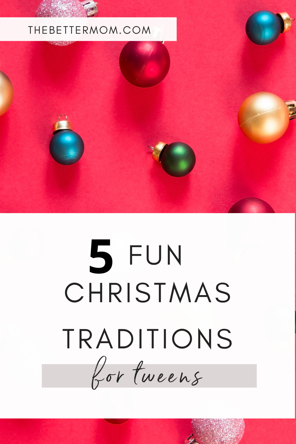 Five Fun Christmas Traditions for Tweens