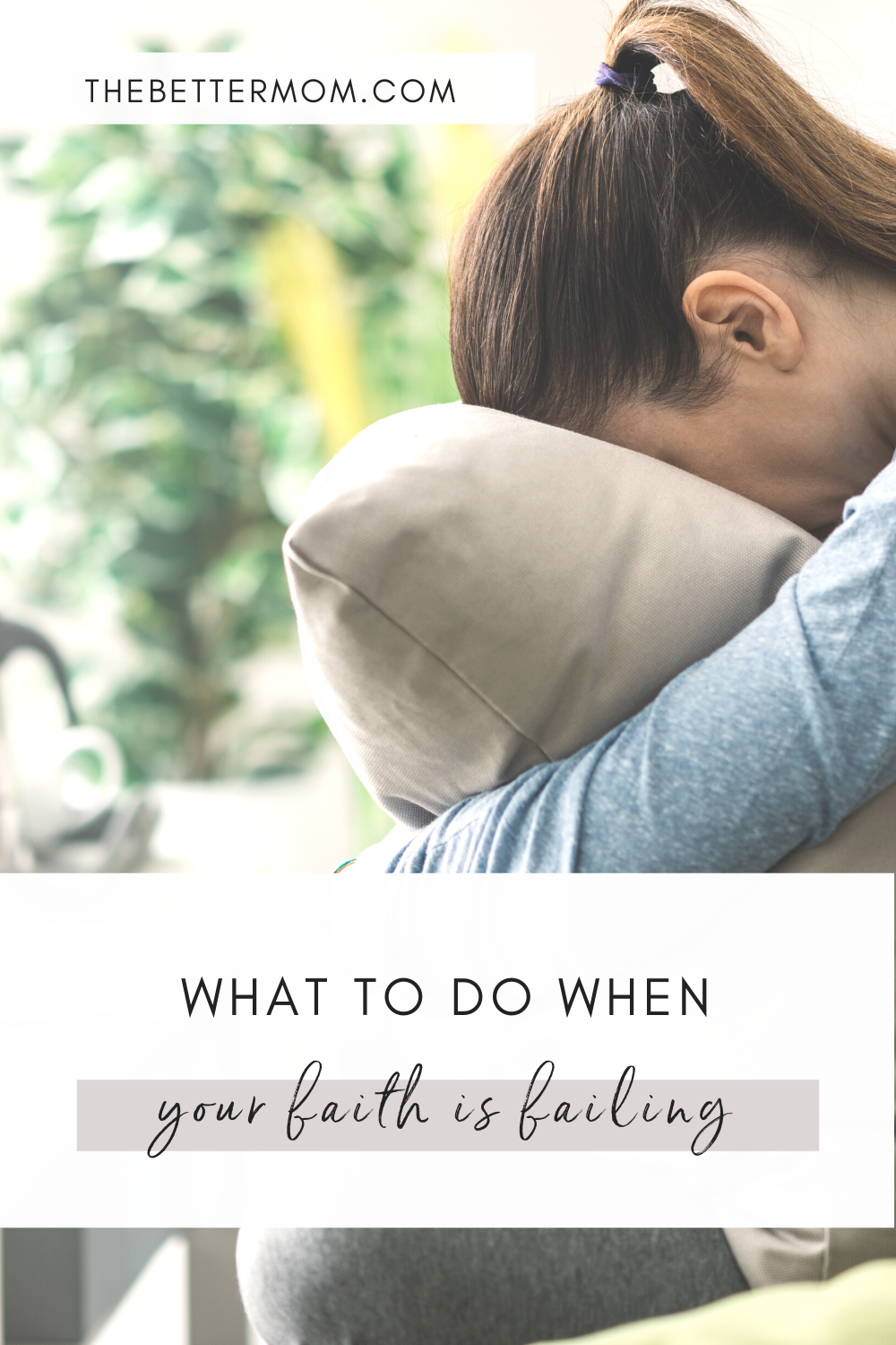 Are you struggling to depend on God right now? Sometimes we can become disoriented by life's circumstances and lose faith that God really cares. If this is you, don't give up. Here is what we can do when our faith is failing...