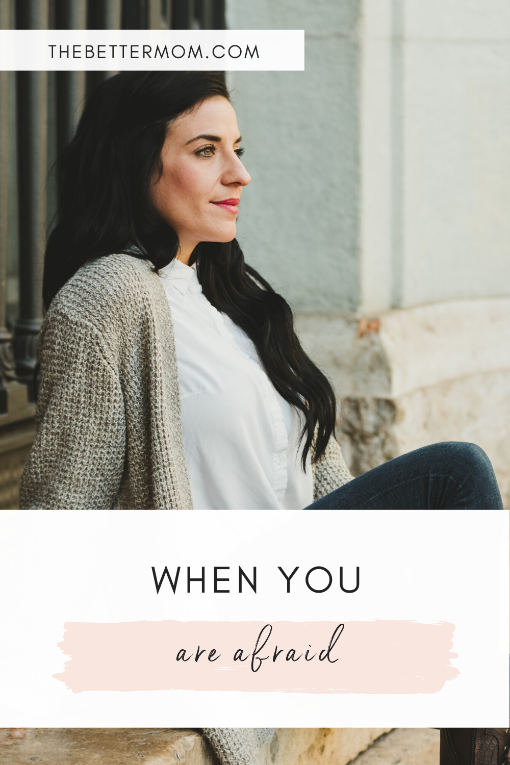 As moms, when we are filled with fear, it's easy for us to push it down and fake it until we make it. However, being honest about our fears can help us discover even more courage!