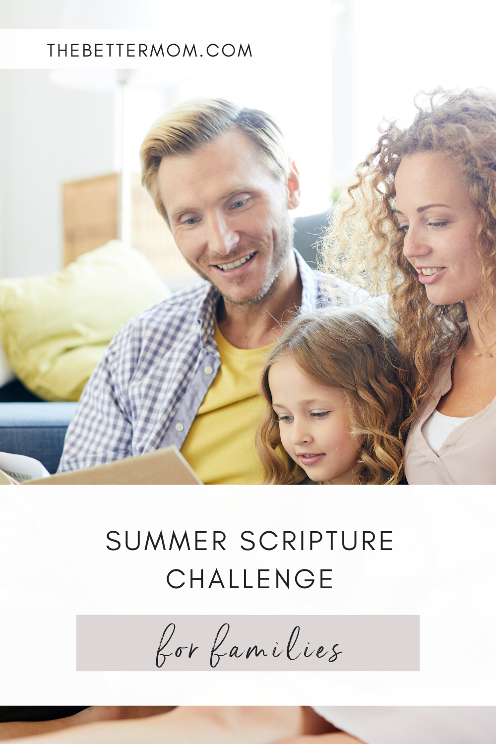 A lot of our plans have been canceled this summer, and it's the perfect time to gather the family for a Bible study! This Summer Scripture Challenge will help keep the Lord's word at the center of our families this season!