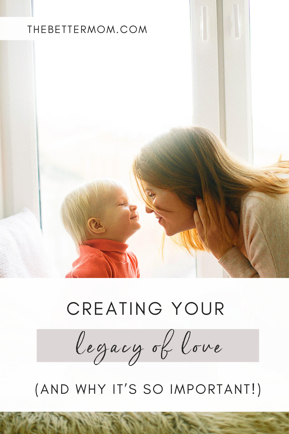 When we love our children well, our actions are a reflection of God's love. These acts don't have to be extravagant, but they allow us to create a legacy of love that we can pass down to our children and grandchildren. Learn more about this 'legacy of love' and why it's so important now!