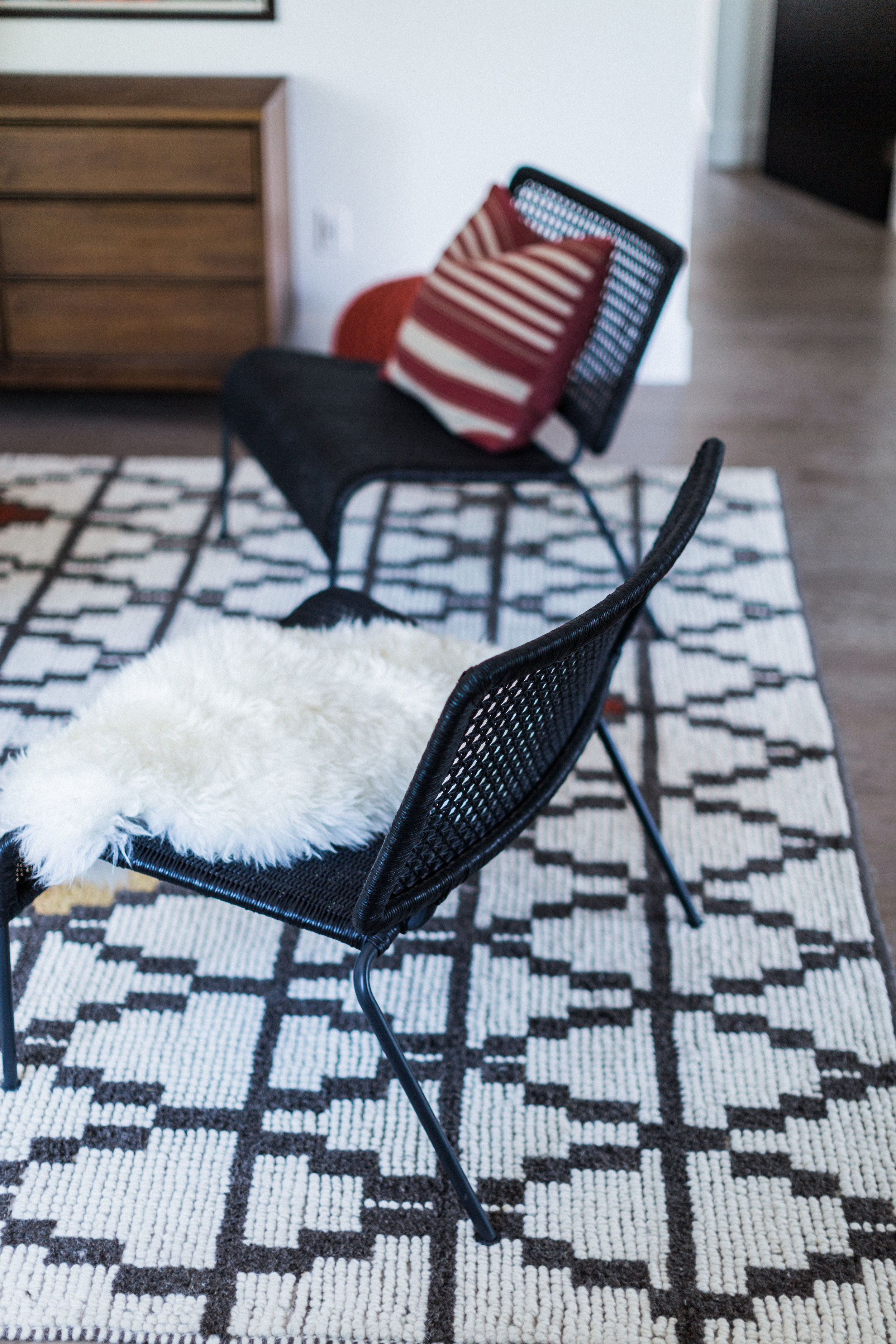 Just love these IKEA  Viktigt chairs , from one of their newest lines. OK, kill us, we shop at IKEA.
