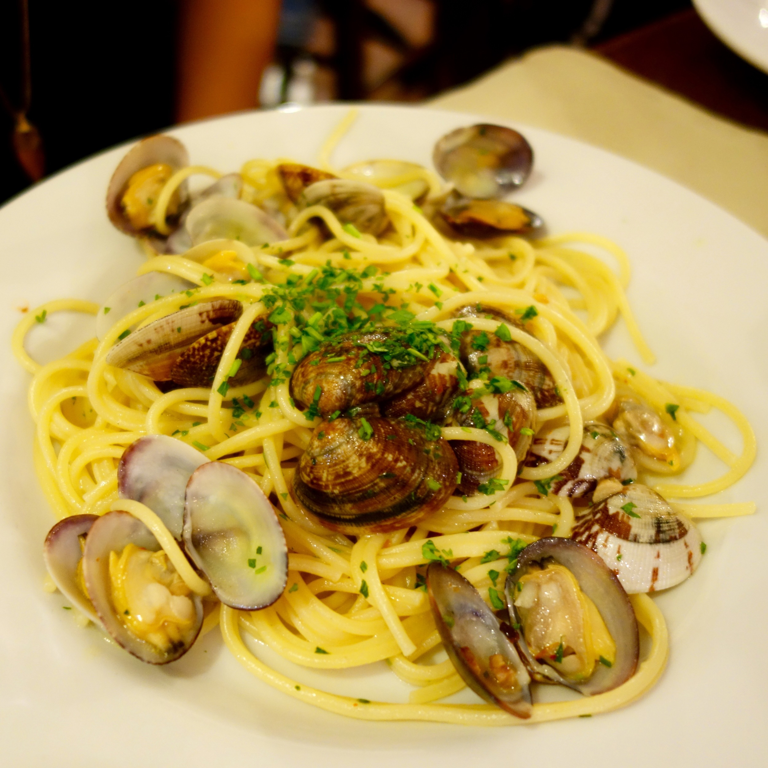 Spaghetti with Clams at Da Francesco.