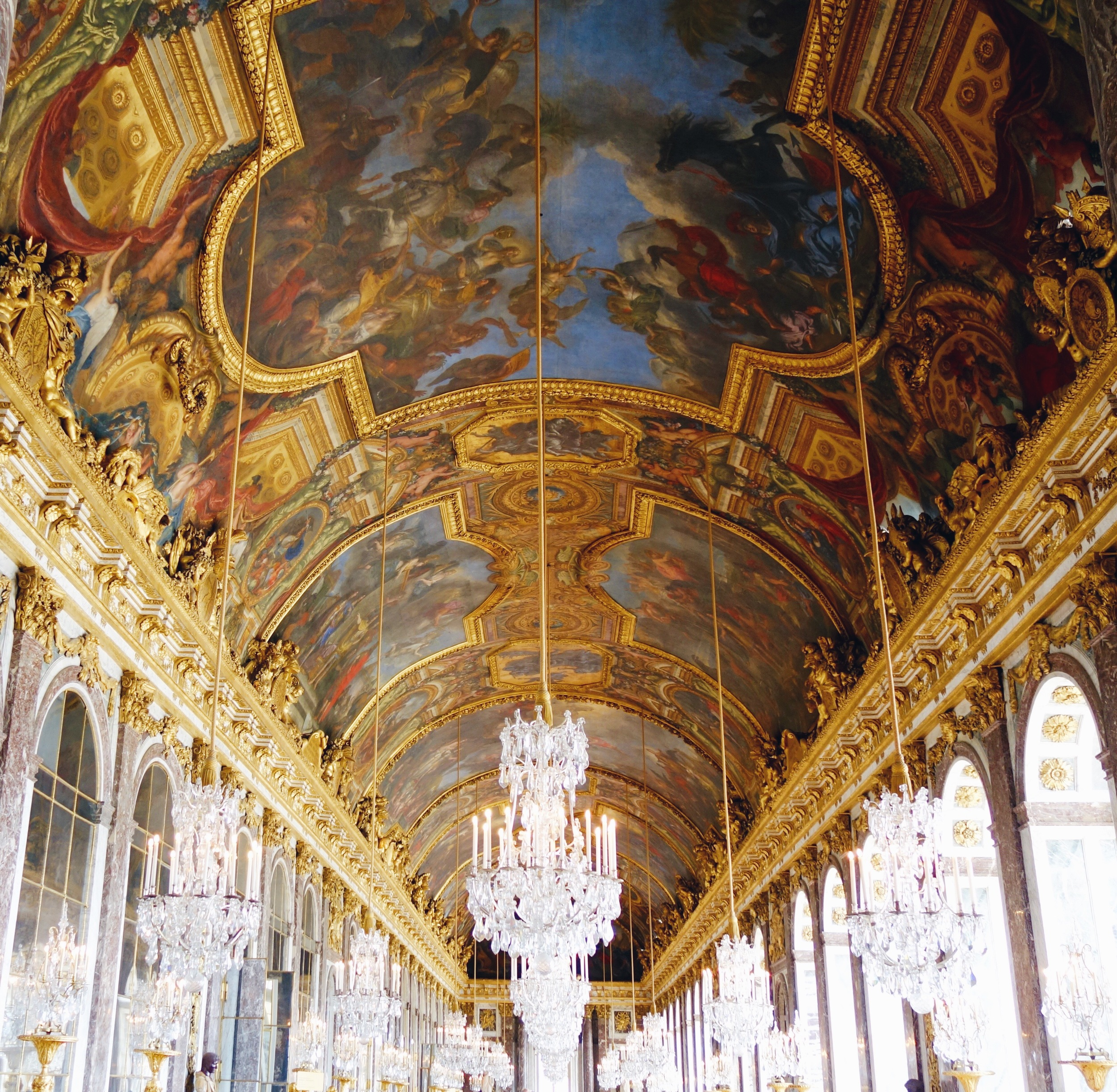 The stunning hall of mirrors.  Seriously it is dazzling in every way and photos cannot do it justice.