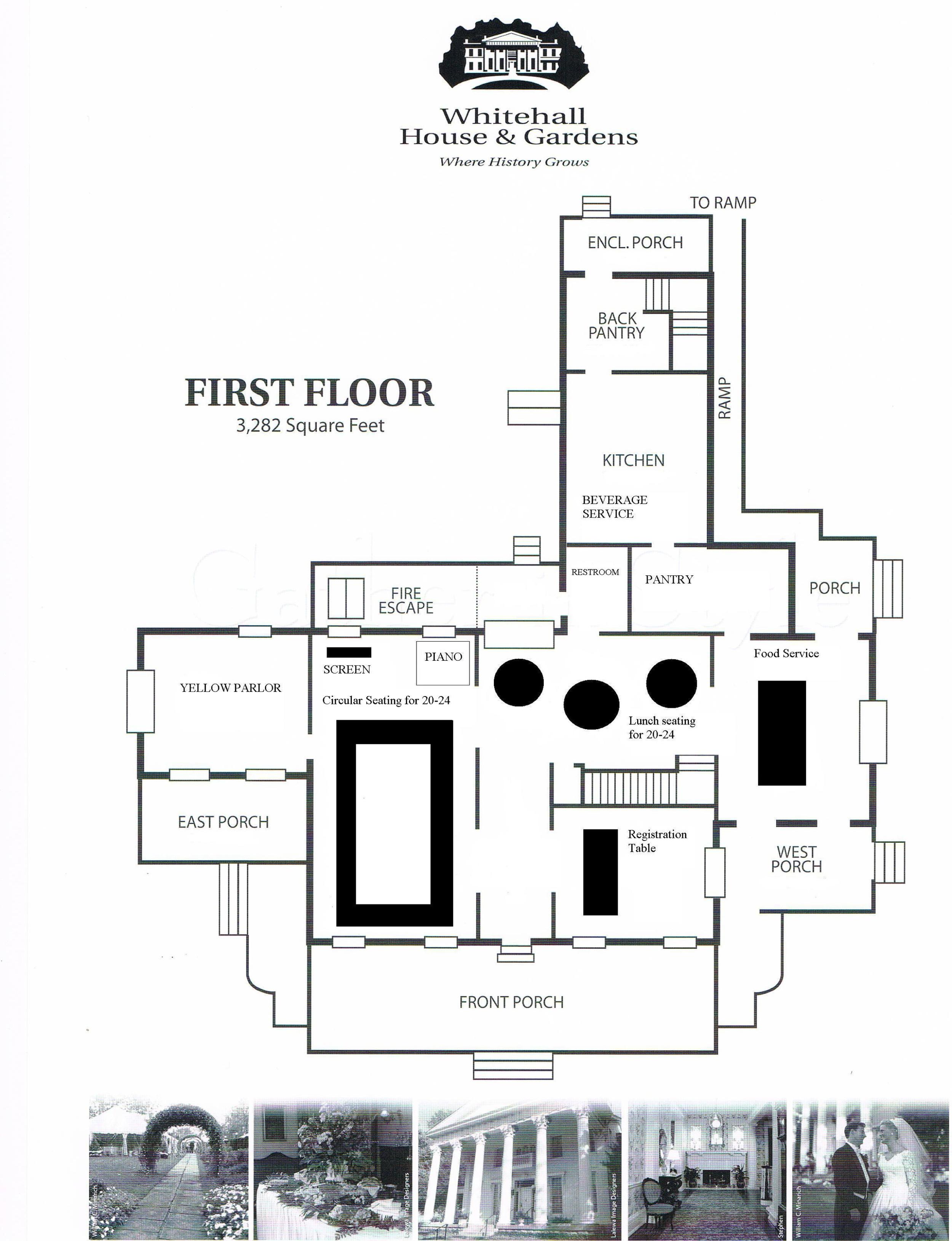 Floor Plan - Circular Style Seating