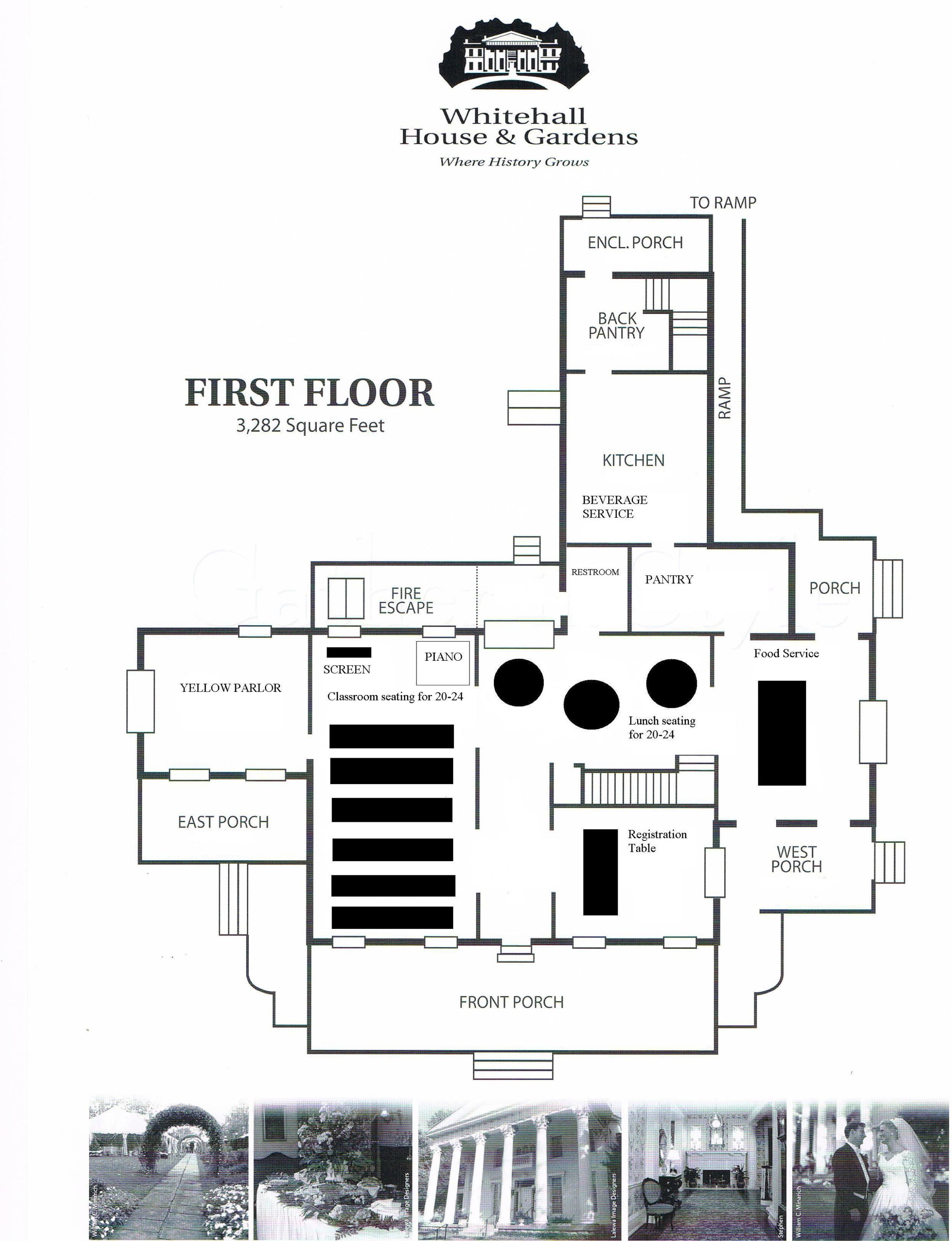 Floor Plan - Classroom Style Seating