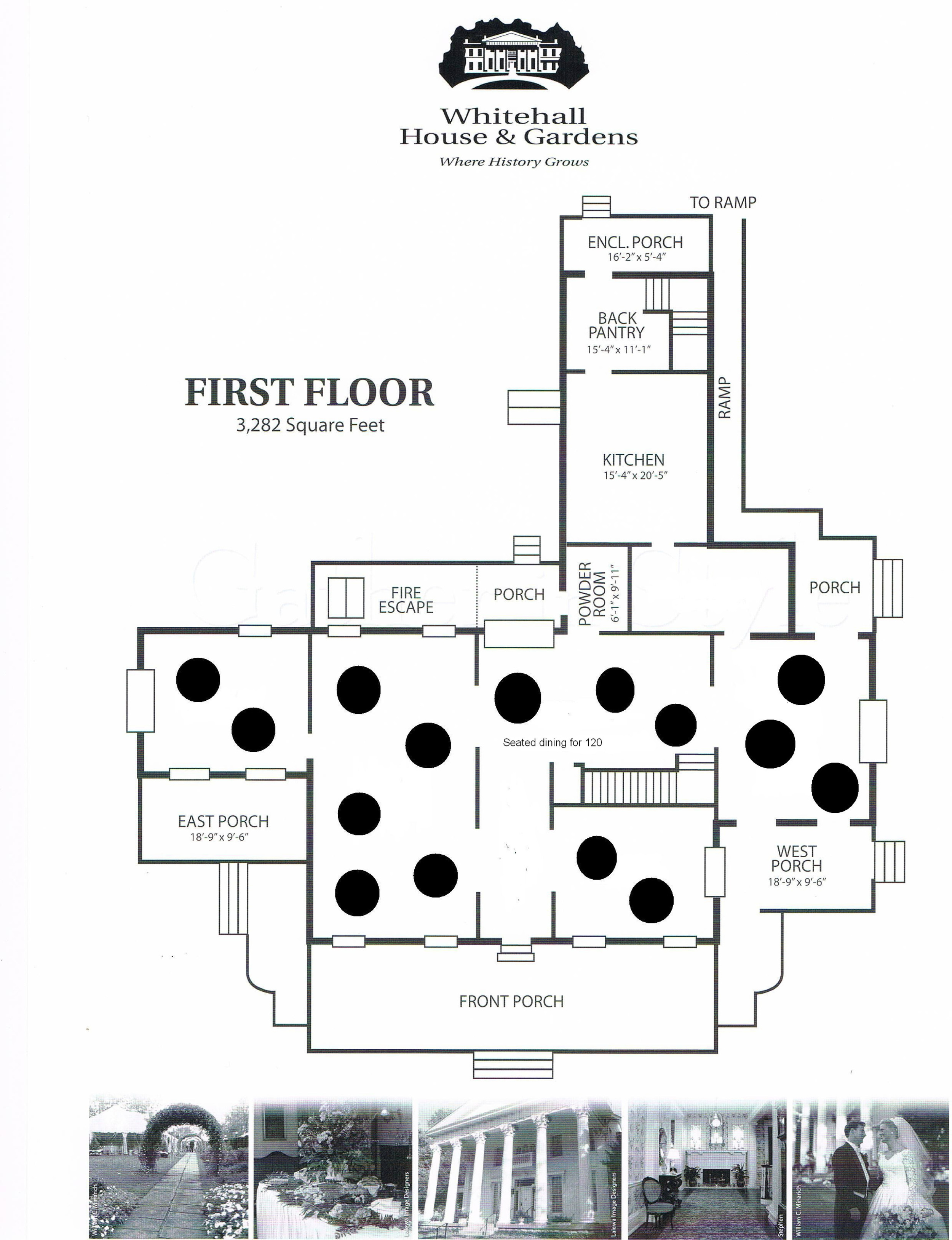 Floor Plan - Seated Dining for 120