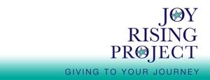 Joy Rising Banner Style Logo