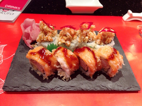 Sensation Maki and the Jalape  ñ  o Shrimp Maki.