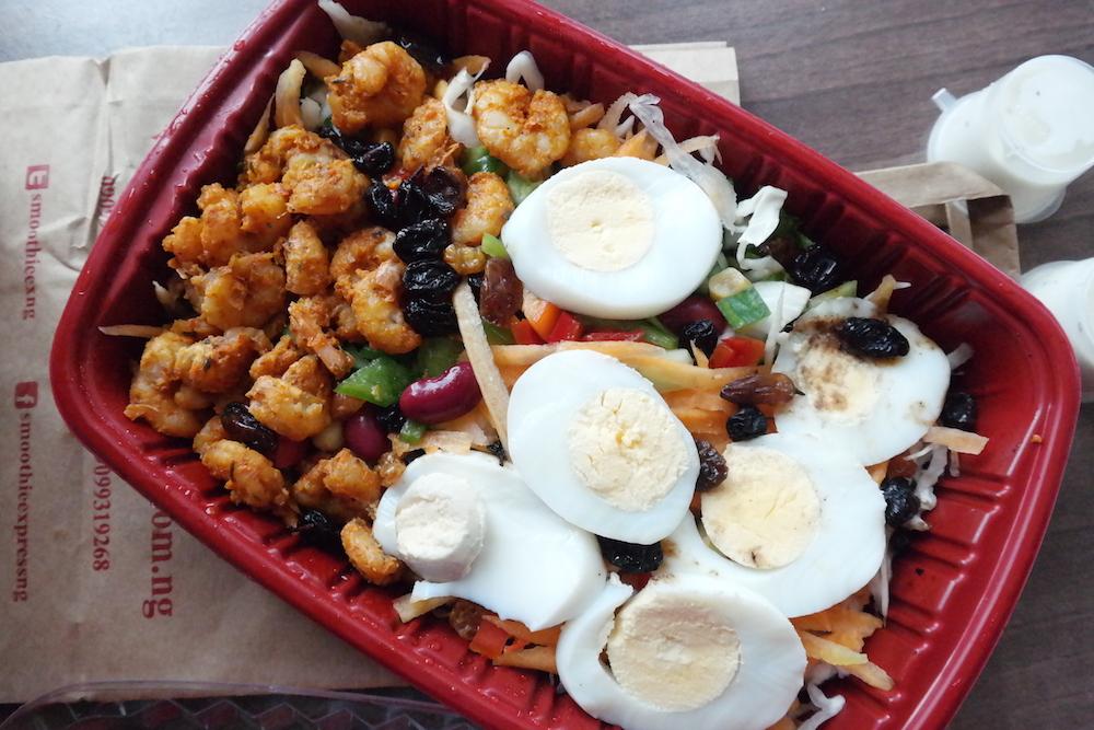 shrimp salad smoothie express